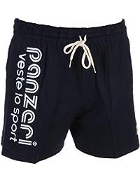 Panzeri - Uni a navy jersey shor - Shorts multisports