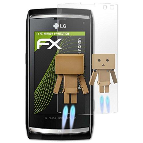 atFolix Displayfolie kompatibel mit LG Viewty smart GC900 Spiegelfolie, Spiegeleffekt FX Schutzfolie Viewty Smart Screen