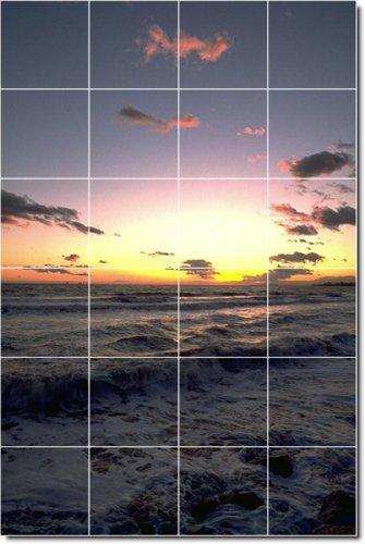 PLAYA FOTO DUCHA MURAL DE AZULEJOS 16  17X 25 5CM CON (24) 4 25X 4 25AZULEJOS DE CERAMICA