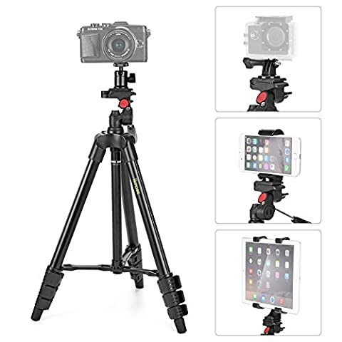 Tripod, iKross 47-inch Light Weight 4-in-1 Camera Tripod with Smartphone