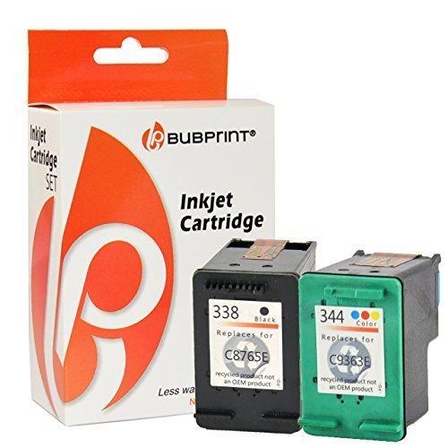Bubprint 2 Druckerpatronen kompatibel für HP 338 HP 344 für Deskjet 5740 6500 9800 Officejet 100...