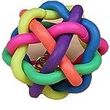 Atdoshop(TM) 1PC Coloré Souple de Bell Balle en plastique Durable Chew Fetch Pet jouet Pour Chien...
