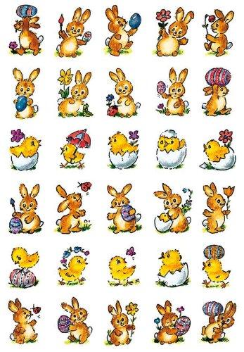 (3687 Sticker DECOR Kleine Hasen + Küken)