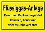 Melis Folienwerkstatt Schild - Flüssiggas-Anlage - 15x10cm   3mm Hartschaum – S00054-C - 20 Varianten