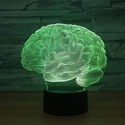 Modélisation du cerveau 3d Led lumière de nuit colorée Creative Electronic Products Usb Led 3d luminaires Kids Room Led Kids Lamp