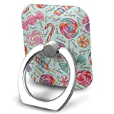 Nicegift Lollipop Pattern 360 Rotating Phone Metal Buckle Tablet Finger Grip Ring Stand Holder Kickstand for All Phones Tablets