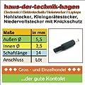 Hohlstecker Innen 25mm Auen 55mm Schaft Netzteilstecker Koaxstecker Netzteilstecker Hohlstecker Stromstecker Elektronik von CHI