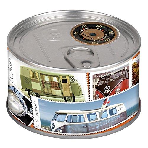 VW Collection by BRISA Tischuhr Magnetuhr MyClock, die Uhr in der Dose mit VW Bus T1 Motiv Vw Bus Uhr