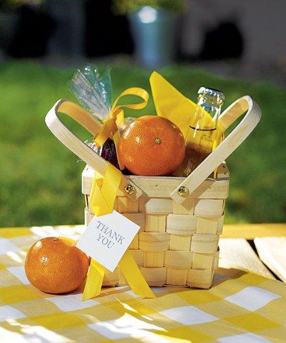 Picknickkorb Mini 6 Stk. Korb Minikorb - Hochzeitsgeschenk Gastgeschenk Tischdekoration - wds.9155