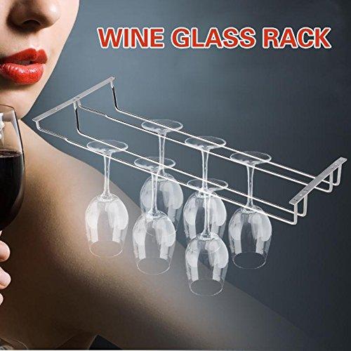kdheart 35cm/13Wein Glas Rack Aufhängung Halterung für Stielgläser Aufhänger Regal Home Bar (Wein Aufhänger Glas)