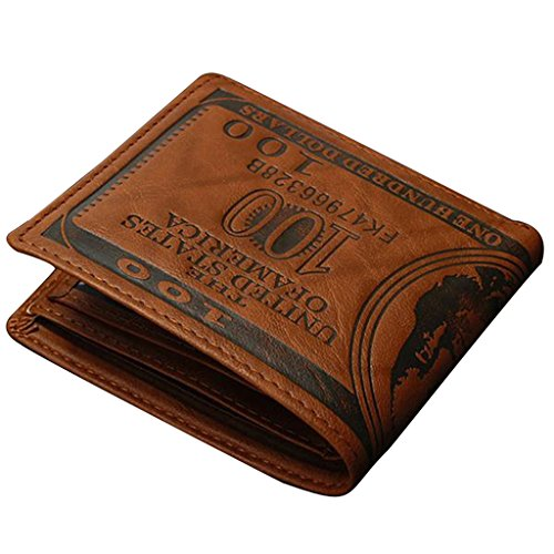 Portefeuille Homme Porte Carte de Crédit Porte-monnaie en Cuir Synthétique Pliant