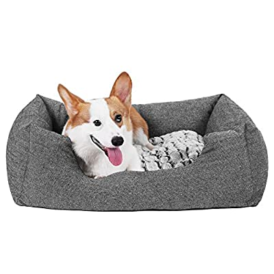 Songmics Cama para perros Impermeable Desenfundable Casa para mascotas Azul