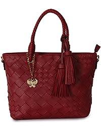 Butterflies Women Handbag (Red) (BNS 6337#RD)