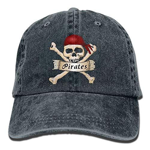 raten Totenkopf Schal Einstellbare Casual Coole Baseballmütze Retro Cowboy Hut Baumwolle Gefärbt Caps ()