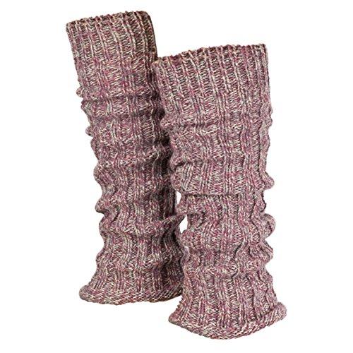 Piarini 1 Paar Grobstrick Stulpen Damen Bein | warme Winter Beinstulpen | One-Size Wolle Multicolour-rose