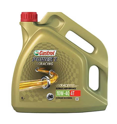 Castrol Power 1 Racing Aceite de Motores 10W-40 4T 4L (Sello inglés,...