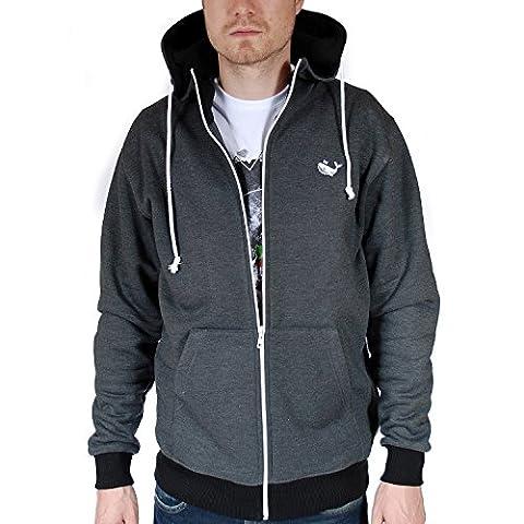 BALEINE Whale Grey Hoodie Hooded Sweat Jacket Sweatshirt Men-S