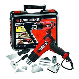 BLACK+DECKER KX2200K-QS – Decapador 2.000W, hasta 645˚C, 230V, incluye 8 accesorios y maletín