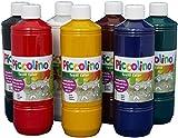 Textilfarben - PICCOLINO Stoffmalfarben Set - 7 Farben à 500ml: