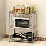 estantería/estantería/metal/bastidores de almacenamiento de cocina/Baño acabado estante misceláneas-A