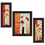 #6: Wens Compliment with Flowers MDF Wall Art (14.5 cm x 29 cm x 1 cm, Set of 3)