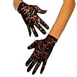 9052 kurze Spitze-Handschuhe (One-Size, black)