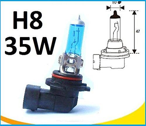 2x Stück H8 35Watt GAS Xenon Optik Halogen Lampen XENON WEISS Long Life Birnen Autolampen Super White UV-Kristallglas mit Gasfüllung