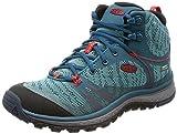 KEEN Damen Terradora Mid WP Trekking-& Wanderstiefel, Blau (Blue Coral/Fiery Red), 38 EU