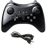 mini kitty Wii U Pro Controller Bluetooth Wireless Controller Replacement For Nintendo Wii U - Black
