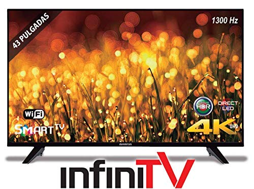 TV 43' LED INFINITON Smart TV 4K INTV-43 Grabador USB - WiFi