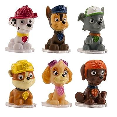 6 figuras decorativas para tartas, con diseño de los personajes de La patrulla canina de DeKora