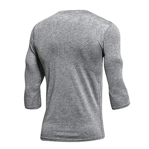 Eaylis Herren T-Shirt Summer Fitness Solid Color KurzäRmliges, Schnell Trocknendes Oberteil