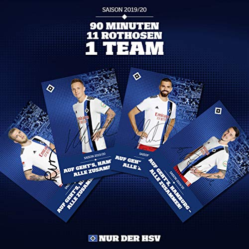 Hamburger SV HSV Autogrammkarten/Autogrammkarten Set ** mit Unterschriften Saison 19/20 **