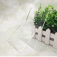 4piezas Borrar Ronda acrílico), transparente–Discos Círculo de plexiglás para luz arcilla mano Base, Cartoon Dolls Modelo Display Stand (redondo)