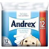 Andrex Toilette Blanche Classique Rouleaux De Papier - 240 Feuilles Par Rouleau (12)