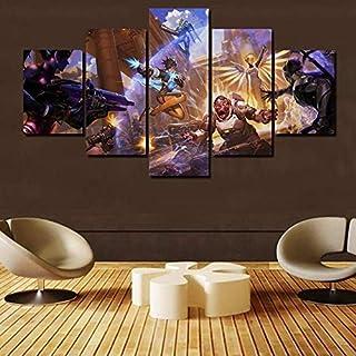 BOYH Leinwand Malerei Overwatch Spiel 5 Stück Wall Art Poster HD Drucke Art Leinwand Dekoration Poster Home Decor Wall,A,30×50×2+30×70×2+30×80×1