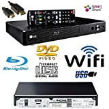 LG BP350 SMART Share Blu-Ray/DVD/CD Player, WiFi Enabled, Multi Room, Remote/Compact/Black with HDMILEAD (Same family as BP556 BP250)