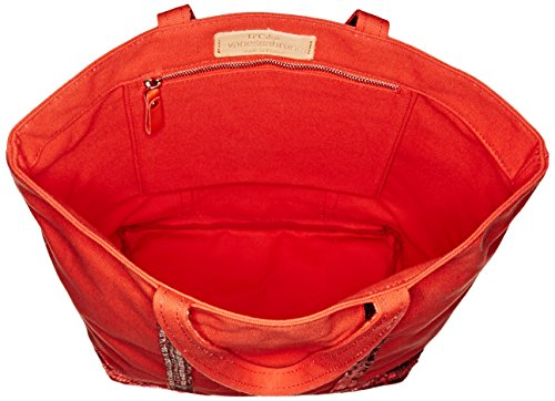 Cabas medium coton et paillettes rouge(pasteque