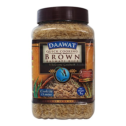 Daawat Brown Basmati Rice, 1kg Jar