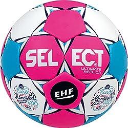 SELECT Ultimate Replica Ballon de handball I Pink/Blanc/Bleu I lilleput(1)