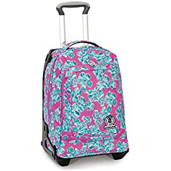 Trolley Tech Invicta Pansy, 34 Lt, Rosa, 2 in 1 Zaino sganciabile, 50 cm