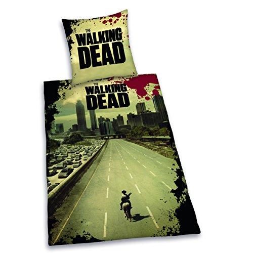 """Herding, Biancheria da letto """"The Walking Dead"""", Multicolore (Mehrfarbig), 135 cm x 200 cm"""