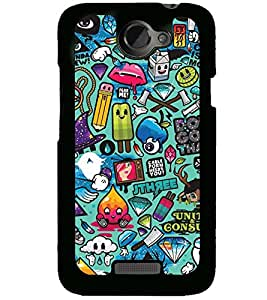 Printvisa Kiddish Colourfull Pattern Back Case Cover for HTC One X::HTC One XT::HTC 1X