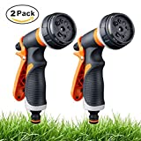 Best Hose Nozzles - WLZP 2 Pack Garden Hose Nozzle, 8 Adjustable Review