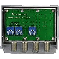 Amplificatore da palo, 3 ingressi: VHF, UHF, UHF, guadagno 32 dB, per zone con segnale medio-debole