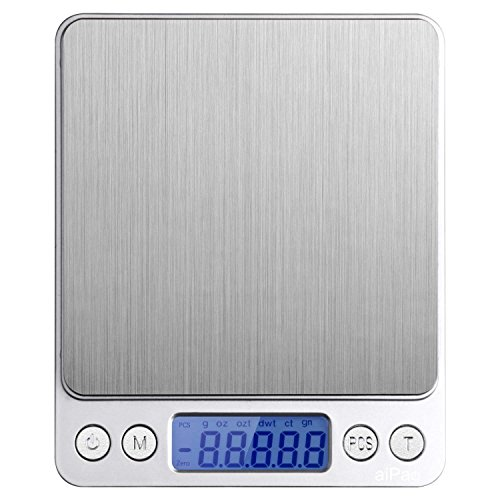 Id max bilancia digitale da cucina, (3000g/g) food scale, grammi, electric jewelry scale, multifunzionale pro pocket bilancia con schermo lcd, tara, hold e caratteristiche pz, in acciaio inox