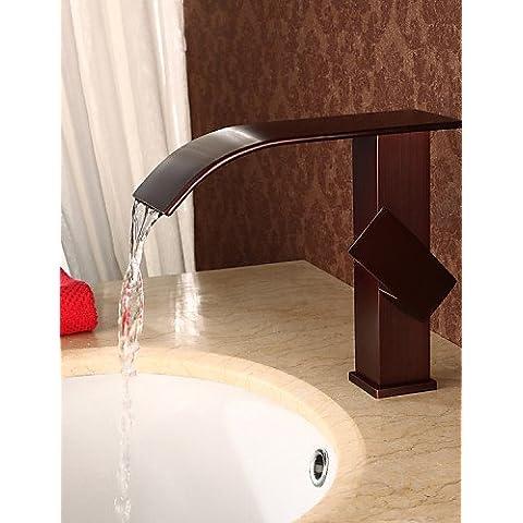 CAC Antiquariato cascata ORB maniglia singola bagno bacino faccia rubinetto miscelatore lavabo rubinetti,tocca97