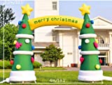 gr-tech Instrument® 4M 13ft Outdoor Dekoration Weihnachten aufblasbarer Bogen aufblasbarer Weihnachtsbaum mit Gebläse 220V oder 110V