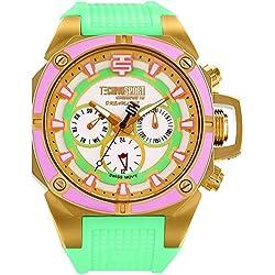 TechnoSport Damen Chrono Uhr - DREAMLINE gold / grün