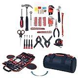 Haushalt Werkzeug Set , 86-teiliges mit Rolltasche, Trimate(Hammer, Schlüssel Set, Schraubendreher, Zange) - tolle für das Haus oder Auto